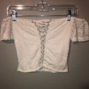 Off the shoulder lacy top
